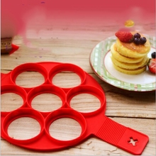 Silicone 7-hole Egg Fryer Pancake Mould Non-stick Maker Cake Molds Kitchen Tools Egg Rings Mould Pastry Mat Baking Accessories цена 2017