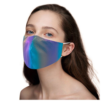 Adult Face Mask Washable Reusable Adjustable Cotton Breathable Pm2.5 Tie Dyeing Sequin Unisex Face Mouth Cover Mascarilla