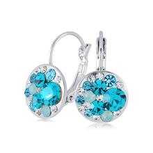 FEECOLOR 2 PAIR Earrings for Women Made with Swarovski Crystals Rose or Silver Tone Plated Fashion Drop Jewelry Gift Her
