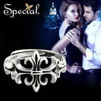 Marca especial moda 925 Plata de Ley hombres anillo extremo abierto anillos ajustables Vintage joyería regalos para hombres JZ150611