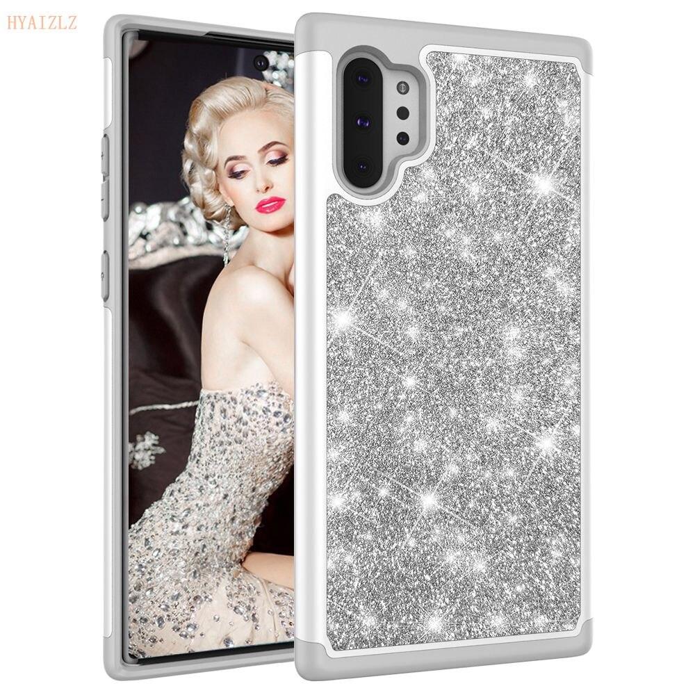 S10 Lite Fall für Samsung Hinweis 10 Plus 5G Telefon Shell Glitter Bling Dual Layer Heavy Duty Zurück Abdeckung für Galaxy S8 S9 S10e Funda