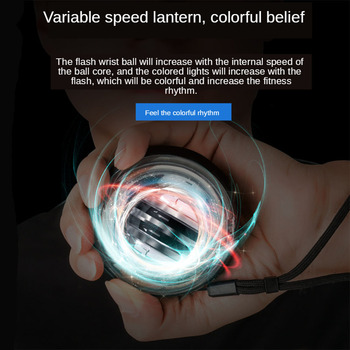 Strengthener Force Power Wrist Ball Gyroscope Spinning Wrist Rotor Gym Hand grip Exerciser Gyro Fitness Ball Muscle Relax 3