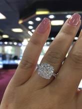 Anillo de oro blanco de 18 K con diamantes de 2 quilates para mujer, joya de Gema Natural, 100%, Bisutería
