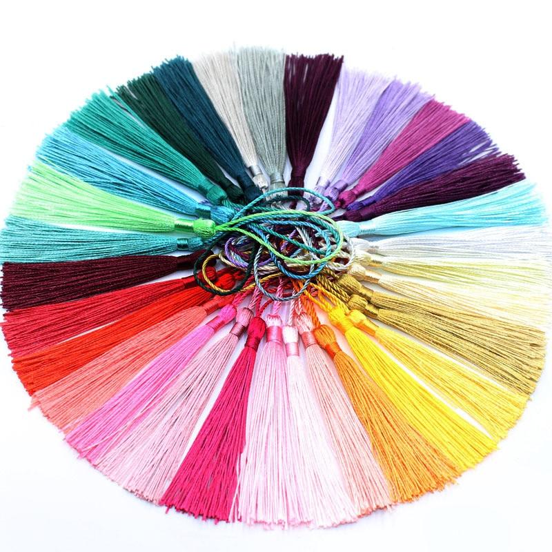 50 шт./упак. 13 см Цветные полиэфирные шелковые кисточки DIY ремесленные завесы, веревка для украшения, бахрома, отделка, одежда аксессуары для ш...