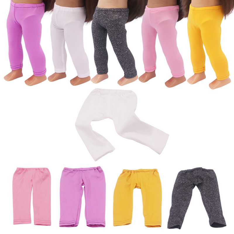 18 Inch Doll Leggings Pants Tights Collocation T-shirt Skirt Dress For 43cm New Baby Diy and American Dolls Accessories(China)