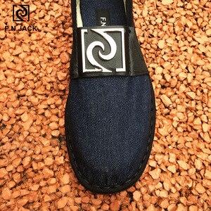 Image 3 - F.N.JACK Espadrille semelles en caoutchouc pour hommes, chaussures en toile intelligente, vip link, chaussures de mode décontractée