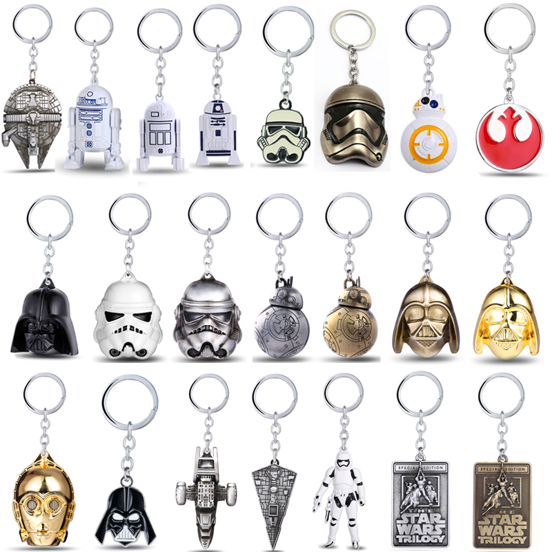 Star Wars Keychain 3D StormTrooper Vader Anakin Skywalker Pendant Keyring Car Bag Key Chain Jewelry For Men Women
