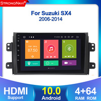 Car Android 10.0 4+64G Radio Multimedia Player for Suzuki SX4 2006 2007 2008 2009 2010 2011 2012 2013 Car GPS Navigatio PLAYER