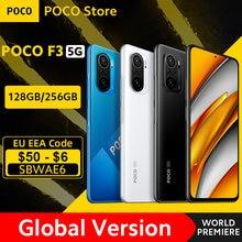[Estreno mundial en existencia] versión Global POCO F3 5G Smartphone Snapdragon 870 ocho núcleos 6GB RAM 128GB/256GB ROM Pantalla AMOLED de 6,67