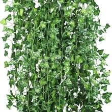 12 x plantas artificiais vid, falsas, guirnalda hiedra colgante el hogar, fiesta, boda, barra, decoração