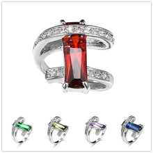 lesf vintage style 925 sterling silver 1 25 ct oval cut trendy wedding ring for women zircon engagement ring trendy jewelry Classic Luxury Real 925 Sterling Silver Ring 2 CT 5 Color Cz Zircon Crystal Wedding Jewelry Ring Engagement for Women Rings