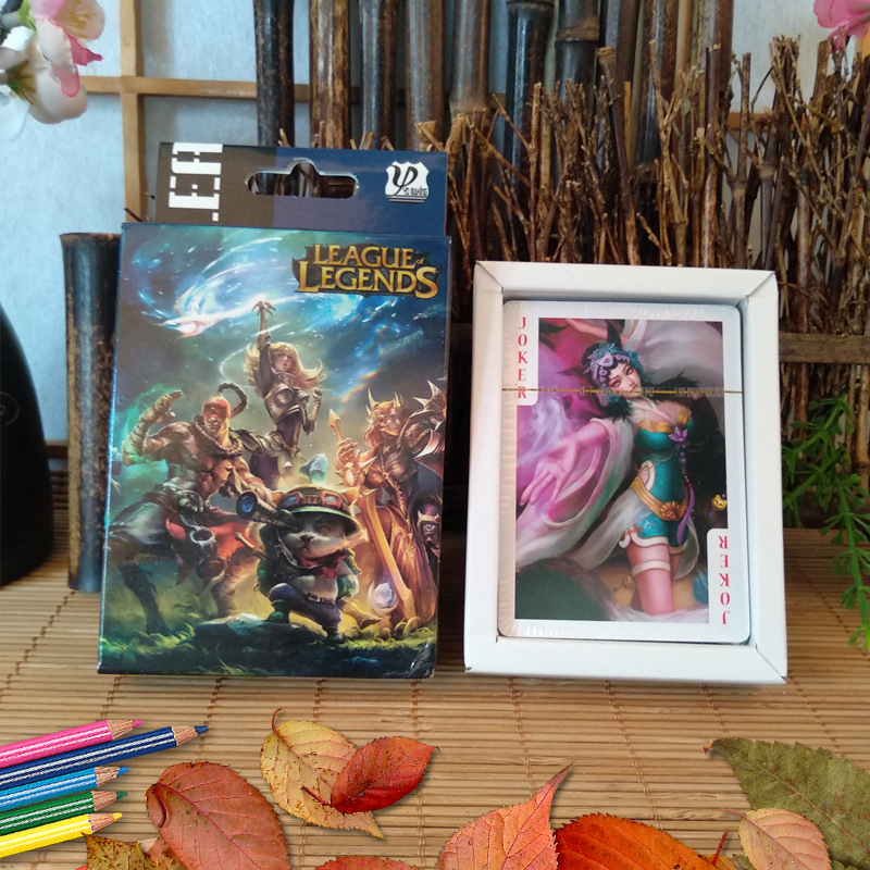 54 Sheets/Set Cartoon LOL League Of Legends Poker Cards Comics Character Collection Playing Cards Toy