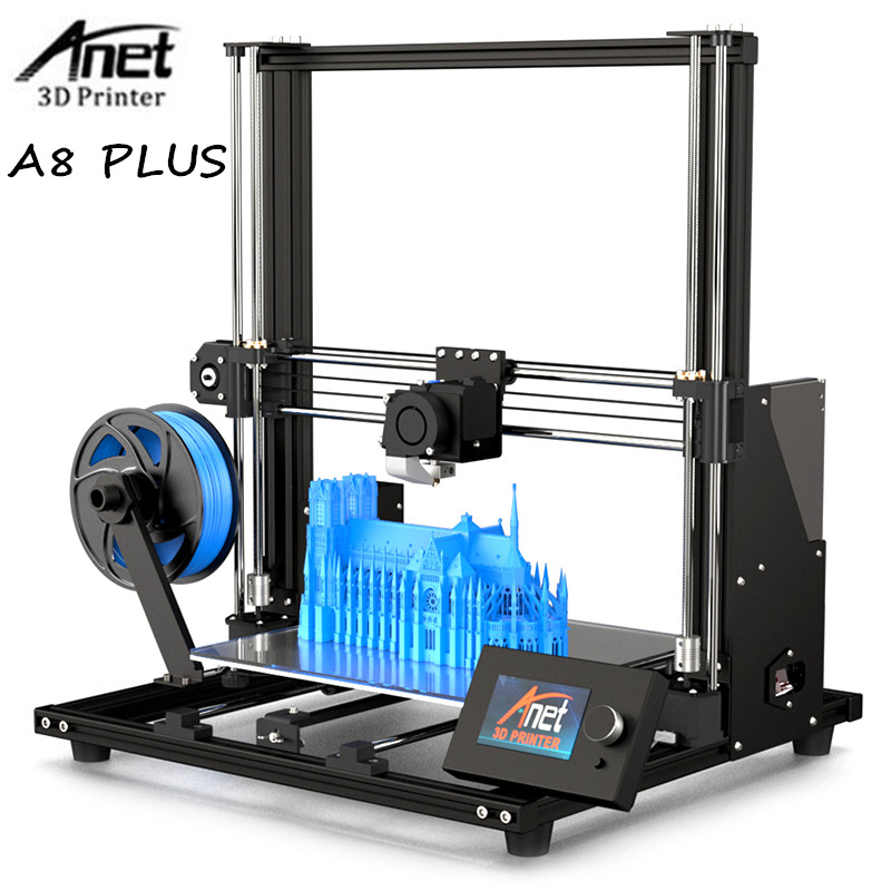 Anet A8 Plus Full DIY & Semi DIY Desktop Machine High Precision Aluminum Alloy Frame 3D Printer with Filament 3D Printer Kit DIY 3D Printers     - title=