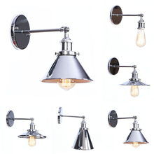цены Nordic Wall Sconce Industrial LED Wall Lamp Vintage Light Loft E27 Bulb Iron Retro Home Deco Bedroom Desk Lighting Fixtures
