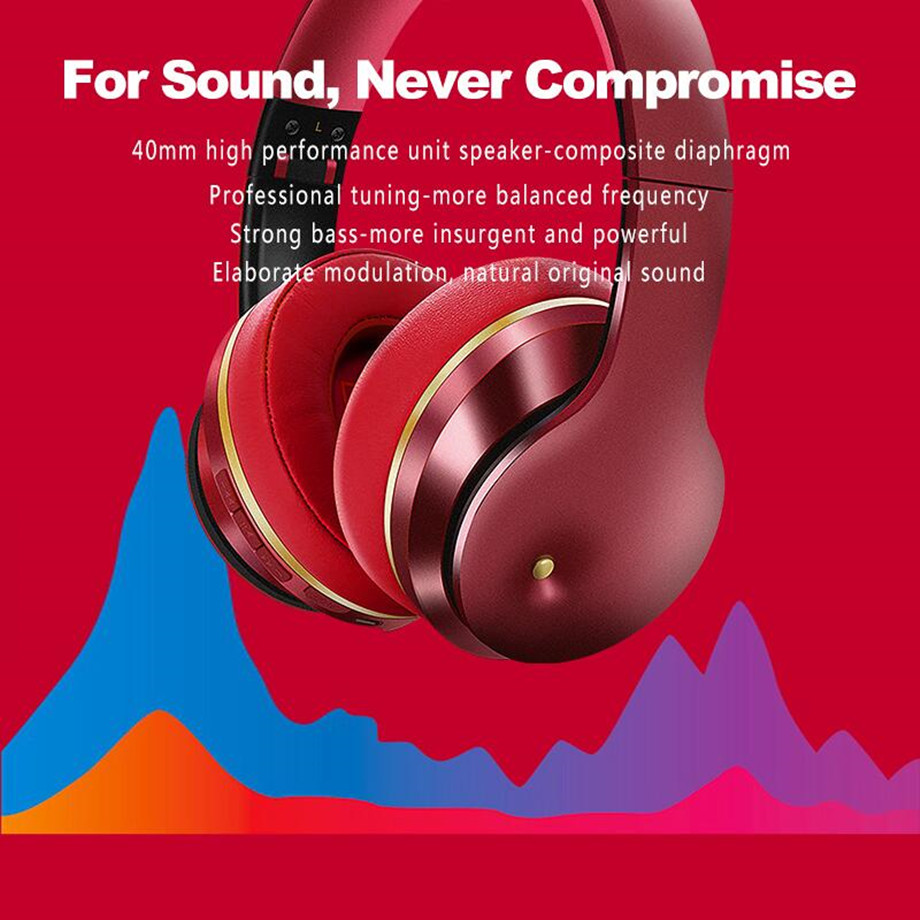 ANC Bluetooth Headphones Active Noise Cancelling Wireless Headset Earbuds Stereo Hifi Deep Bass Sports Gaming Earphone with Mic