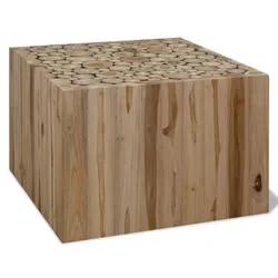 Nueva mesa de centro moderna y auténtica mesa de madera de teca para sala de estar muebles de hogar mesa auxiliar de moda 90x50x35cm mesa de roble