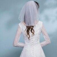 Fashion Wedding Veil Simple Tulle White Ivory Single Layers Bridal Veil Cheap Bride Accessories Short Girls Veils