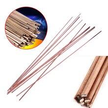 Tiges à souder plates en cuivre, 3x1.3x400mm, basse température pour la réparation du brasage, électrode en cuivre, 10 pièces