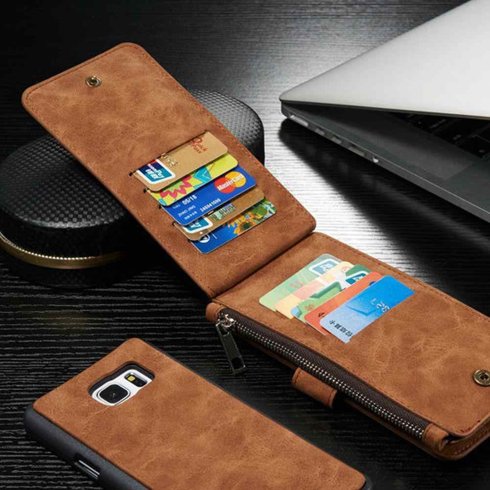 For iphone6 Plus/6S Plus Retro Leather Case Cover Zipper Wallet Card Multifunction wallet Card  protective case QKCR60