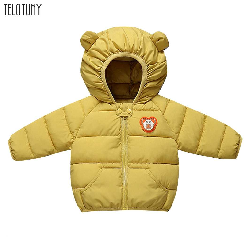 Telotuny Leuke Winddicht Cartoon Oor Hoodies Hooded Kind Taille Jas Kinderen Bovenkleding Winter Jas Warm Baby Kids Kleding L911