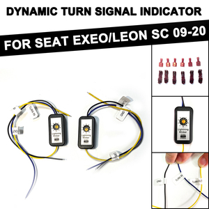 For Seat Exeo 2009-2014 For Seat Leon 5F SC 2013-2020 2Pcs Dynamic Turn Signal Indicator LED Taillight Module Cable Wire Harness
