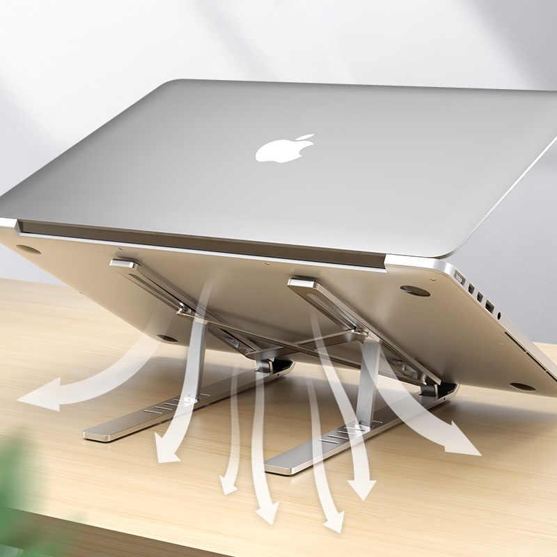 LINGCHEN dizüstü standı MacBook Pro dizüstü standı katlanabilir alüminyum alaşım Tablet standı braketi dizüstü bilgisayar tutucu dizüstü