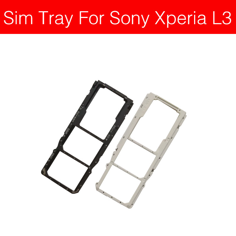SIM Card Tray Holder Adapters For Sony Xperia L3 I3312 I3322 I4312 I4332 Sim Reader Card Slot Socket Replacement Repair Parts