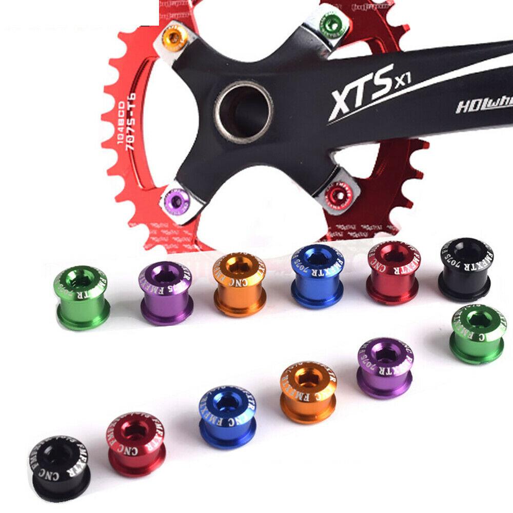 US 4//5PCS Single//Double//Triple Speed 6.5//8.5mm MTB Bike Chainring Bolts Screws
