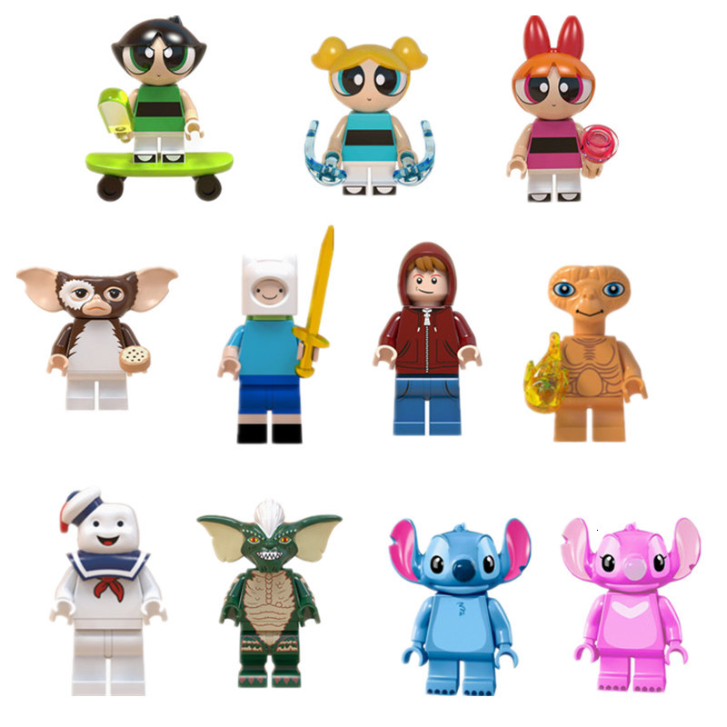 Gizmo Gremlins Stitch ET Elliott Angie Stay Puft Finn Stripe Building Blocks Toys For Children Gift Compatible Legoedly