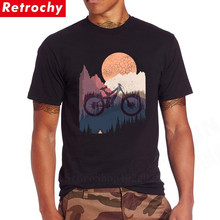 Camiseta clásica de diseño MTB de bicicleta de montaña, camisetas 100% de algodón BMX, camisetas de motociclista, camisetas Retro de manga corta con cuello redondo, camiseta novedosa, divertida camiseta aeróbica para ciclismo