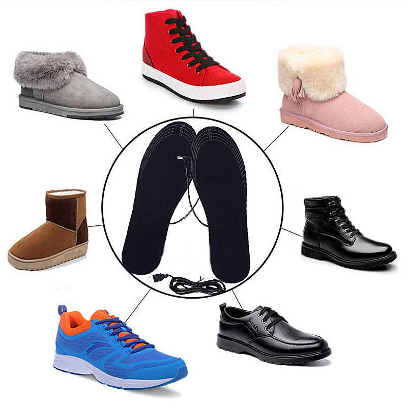 USB грелка для обуви, женская и мужская теплая обувь, стелька, зимние теплые стельки для обуви, ботинки, теплые стельки для ног