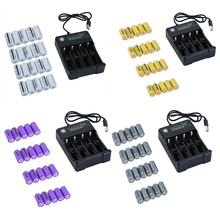 20pcs 16340 2500mah 3.7V battery and Chargers Rechargeable