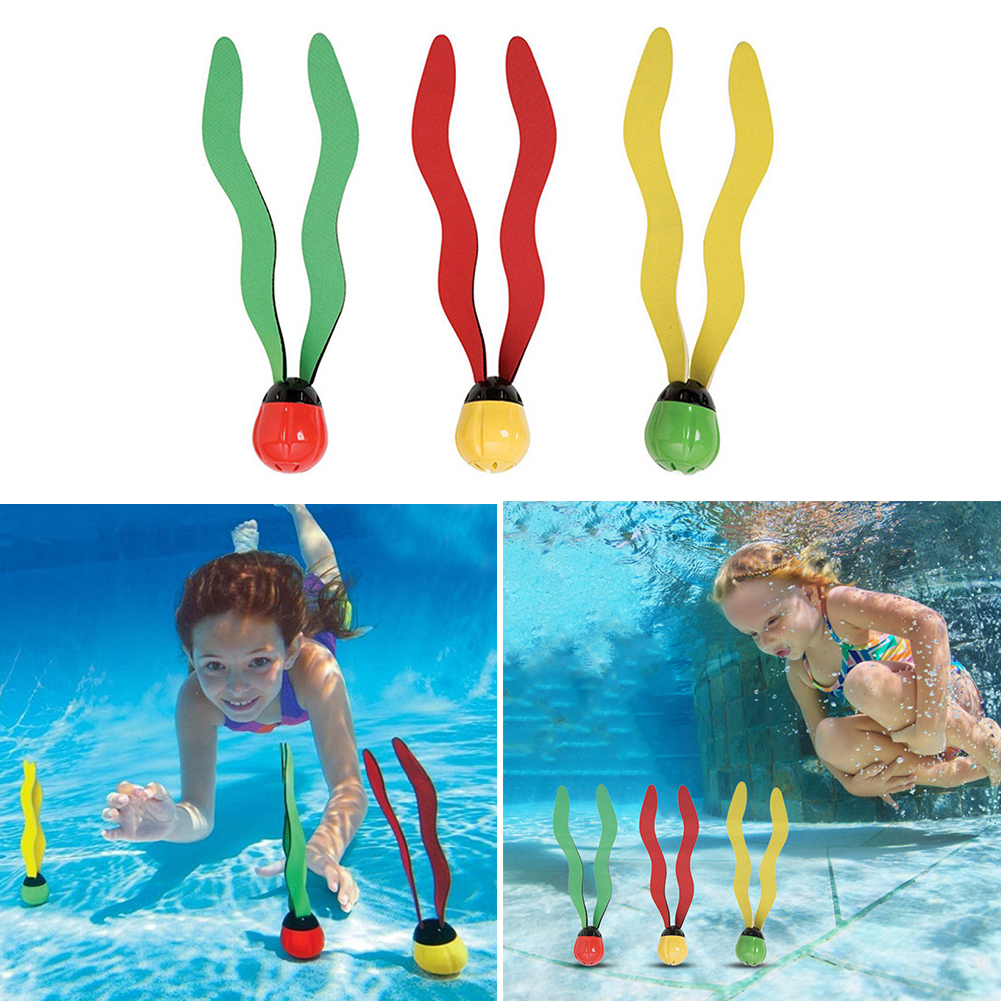 Portable Swimming Pool Toys Sports Diving Games Children Kids Seaweed Water Toys For Outdoor Watering Playing Supply