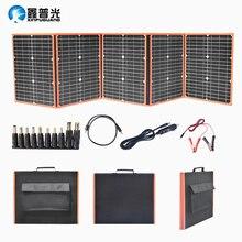 все цены на 100W 18V Solar Panel Portable Foldable Solar Bag DC 5V USB Output for outdoor travel Camping Car Boat 12v Battery Charger онлайн