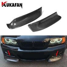 Real Carbon Fiber Front Bumper Lip Splitters Aprons Flaps for BMW 3 Series E46 M3 Coupe 1999  2006 Bumper Trims Spoiler