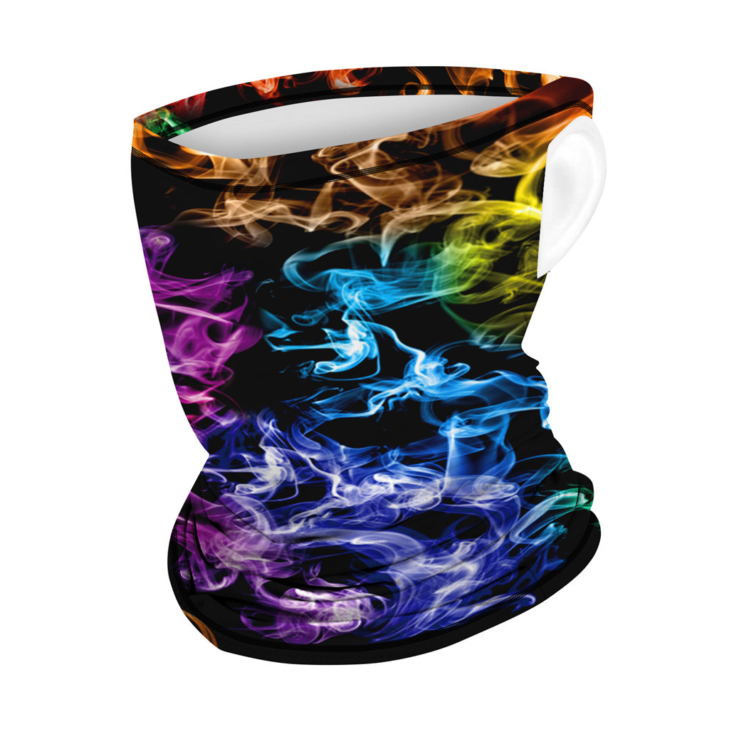 Outdoor Print Seamless Ear Cover Mouth Mask Anti bacterial Dustproof Sports Scarf Neck Tube Dust Protection