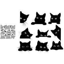 Набор для скрапбукинга с симпатичным зондом и кошкой, бумажные трафареты для высечки, Металлические ремесла, режущие штампы для тиснения дл...