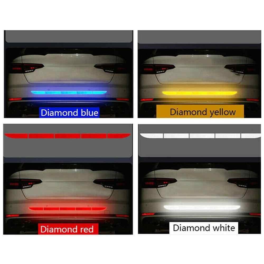 Pegatinas de cinta reflectante para coche, tira de advertencia Exterior, cinta reflectante, pegatina protectora para coche, accesorios para el cuerpo del maletero