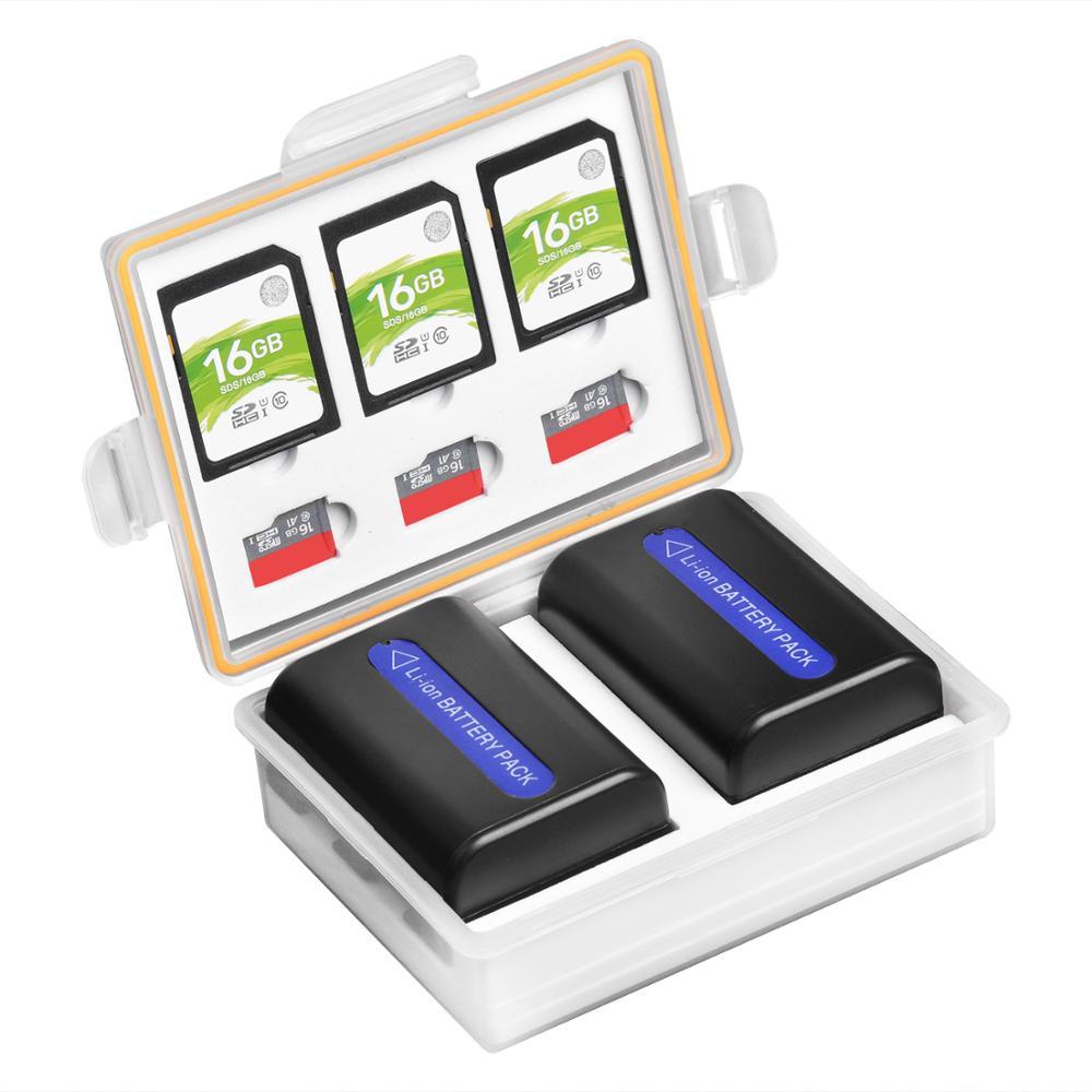 Camera Battery Storeage Box For LP-E6 LP-E8 LP-E10 LP-E12 LP-E17 EN-EL3E EN-EL14 EN-EL15 NP-FW50 NP-FZ100 BLF19 BLG10 Battery
