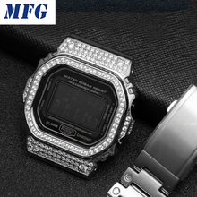Diamond Metal Watch bezel Case Watch Strap DW5600/5610 DW5000 Stainless Steel Watchband Frame Bracelet Watch Accessory Tool все цены