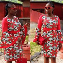 Fadzeco 6XL/Plus Size African Loose Dresses For Women High Quality Casual Fashion Star Design New Bazin Embroidery Short