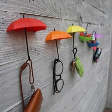 Office-Sticky-Holder Keys-Clips Umbrella-Shape Self-Adhesive Wall-Door Home-Supplies