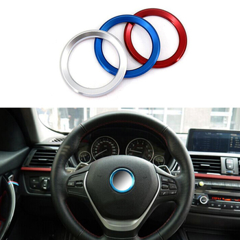 Aluminum Alloy Car Styling Steering Wheel Decor Circle Cover Universal For BMW Universal Automotive Interior Accessories Goods image