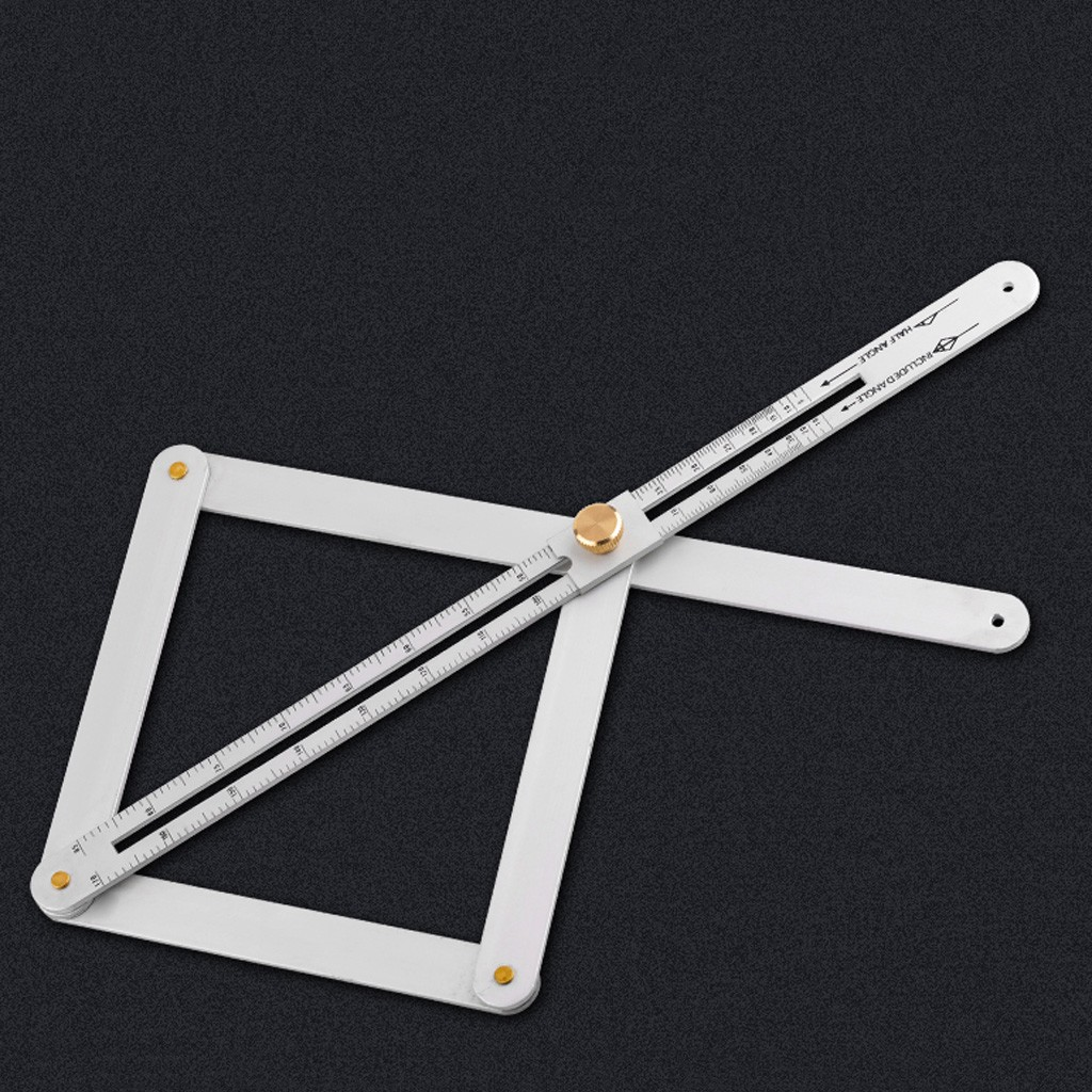 Stainless Steel Corner Angle Finder Ceiling Artifact Tool Square Protractor FA