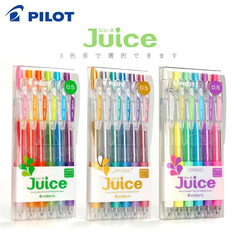6 12 cor conjunto piloto suco cor gel caneta 0 5mm lju 10ef para fazer notas