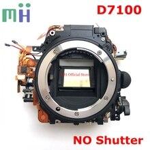 Di seconda mano Per Nikon D7100 Anteriore Del Corpo Principale Cornice Dello Specchio Box con Apertura Driver Del Motore Diphragm Unità (SENZA pulsante di scatto) pezzo di Ricambio