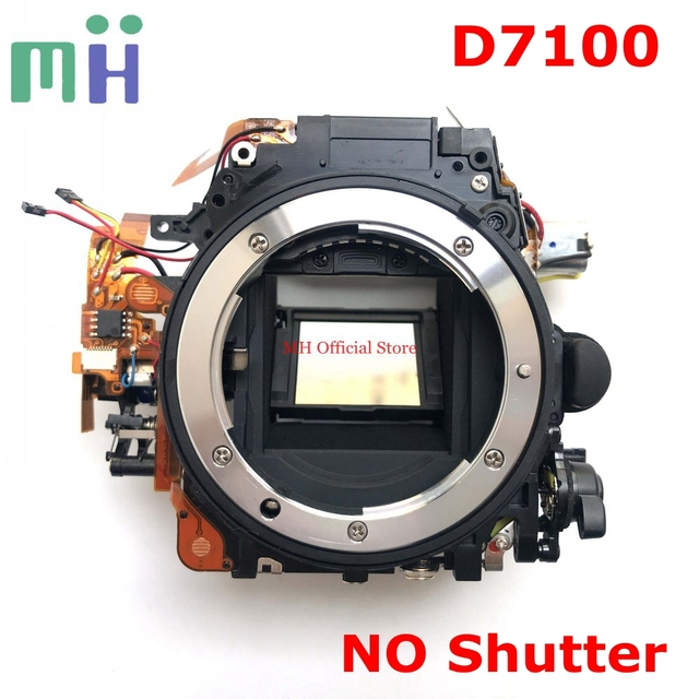 Second hand For Nikon D7100 Front Main Body Frame Mirror Box with Aperture Driver Motor Diphragm Unit ( NO Shutter ) Spare Part