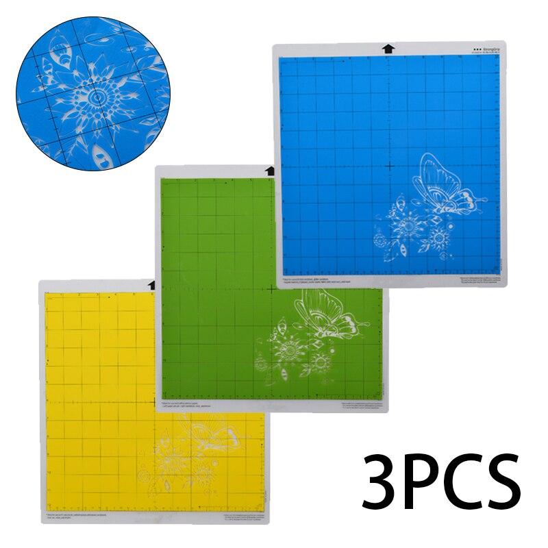 3pcs Cutting Mats Standard/Light/Strong Grip Adhesive Cutting Mat Cutter Tools Cutting Mat With Measuring Grid Engraving Board