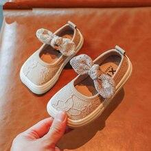 Текстильные туфли для девочек кружевные сетчатые дышащие детские