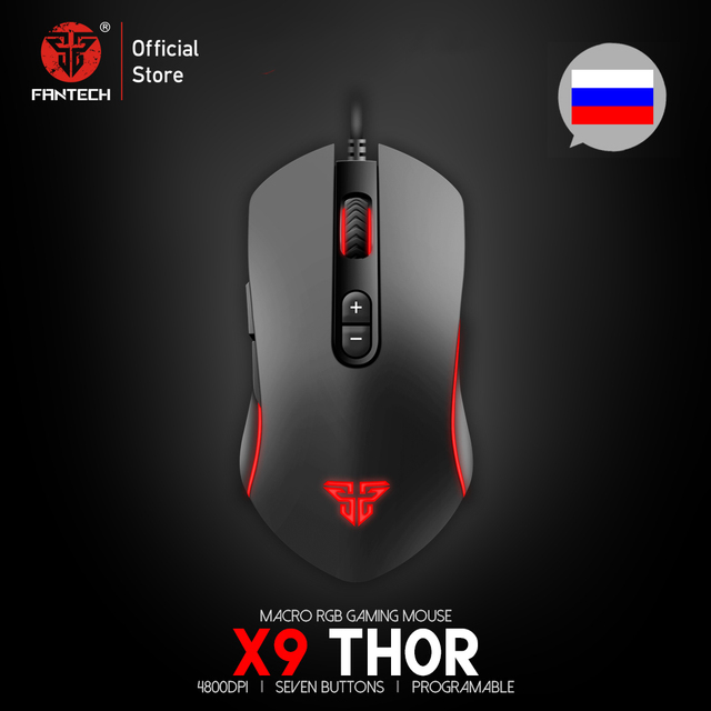 Fantech x9 profissional wired gaming mouse ajustável 4800 dpi cabo óptico mouse para fps lol mouse gamer usb mouse ratos